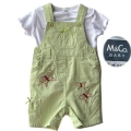 M&CO Butterfly Green Overalls Set 可爱绿色女童吊带套装