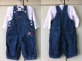 M&CO Emroidery Flowers Jeans Overalls Set 可爱绣花女童吊带长裤套装