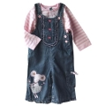 M&CO Litttle Princes Mouse Overalls Set 可爱小鼠女童吊带裤套装