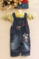 M&CO 'My Little Pup' Denim L Overalls Set 我的小狗狗牛仔背带裤套装
