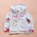 MissErgi Dream White Hoodie Jacket 欧单女童白色刺绣帽衫