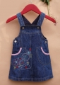 Mothercare Embroidery Jeans Overalls 刺绣背带裙