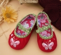 Mothercare Embroidery Butterfly Red Shoe 刺绣蝴蝶鞋鞋
