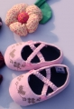Mothercare Embroidery Heart Pink Shoe 钮扣刺绣鞋鞋