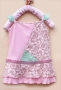 Mothercare Spagetti Floral Pink Dress  细肩带拼布洋装