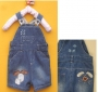 Next Puppy Short Jeans Overalls 大耳朵狗狗背带裤