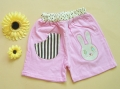 Nissen Little Bunny Pink Short Pant 条纹小兔短裤粉色