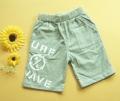 Nissen Surf Grey Quarters Pant 双面字母印花灰色5分裤