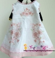 Nova Embroidery Floral White Dress 全棉刺绣花朵白色裙子