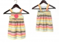 OSHKOSH Rainbow Stripe Dress 彩虹条纹背带裙