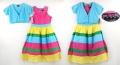 One Step Up Rainbow Dress & Cardigan 彩色吊带连衣裙