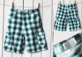 POLO Green Black Checker Pant 原单绿黑间条中短裤