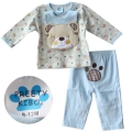 Pretty Kibo Littile Bear Blue 3 Pcs Set 小熊造型三件套