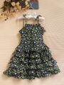 RALPH LAUREN Floral Layer Blue Dress 千层吊带小洋装 (PRICE REDUCED!)