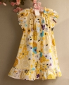 RALPH LAUREN Floral Yellow Dress 大花朵洋装