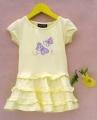 RALPH LAUREN Butterfly Layers Yellow Dress 黄色蝴蝶贴布绣洋装