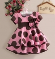 SARA Brown Polkadots Pink Dress 波点洋装