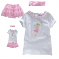 SAVANNAH Girl 3 Pcs Fairy Set 白色蝴蝶仙子贴布绣花三件套