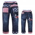 SCB Mickey Long Jeans 米奇贴布绣花纯棉牛仔长裤 (Design 1)