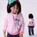 SHOW BABY Panda Pink  Hoodie Jacket 韩单粉红色小熊纯棉带帽外套