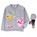 SITUYA Bunny Grey Sweater 灰色兔子高档纯棉毛线荷叶领长袖