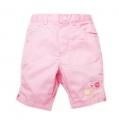 SONOMA Bermuda Pink Pant  刺绣小鸟粉色短裤