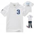 S-SCRUM No.3 White Collar Tee 白色字母贴布绣花珠地有领短袖