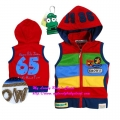Sago Kids No.65 Stripe Red Vest 大红绣花帽背心