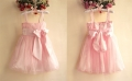 Sara Kids Chiffon Pink Dress 大蝴蝶结洋装【粉】