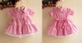 Sara Kids Sweet Pink Dress 大蝴蝶结花边洋装【粉】