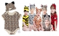 Smile Baby 2 Pcs Romper Set ~ LEOPARD 豹纹款短袖哈衣套装