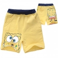 Sponge Bob Yellow Quarters Pant 海绵宝宝黄毛圈短裤 (Design 3)
