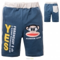 Spunky Monkey Blue Quarters Pant 蓝色大嘴猴纯棉毛圈短裤(Design 1)