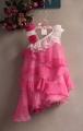 TYZQR Rose Pink Layers Dress 玫瑰花千层雪纺洋装【梅红】