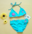 Tag UV Blue Bikini Swimsuit 防晒UV比基尼泳衣兰色