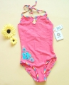 Tag UV Flowers Pink Swimsuit 防晒UV连体泳衣粉色
