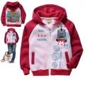 Thomas & Friends Jacket 红色火车头印花纯棉加绒带帽外套 (Design 12)