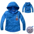 Thomas & Friends Windbreaker 蓝色火车头毛圈带帽外套 (Design 22)