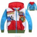 Thomas & Friends Zip Jacket 卡通火车头印绣花高领毛圈外套
