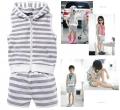 V&R Grey Stripe 2 Pcs Set 外贸V&R 灰色条纹休闲裤套装