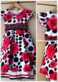 Verci Red Flower Dress 高贵红花连衣裙