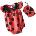 Vineyatd Ladybug 2 Pcs Pink Romper Set  超可爱点点哈衣两件套