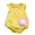 Wishes and Kisses Happy Girl Yellow Romper 宝宝哈衣