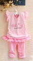 X.Y.F Beautiful and Happy Pink 2 Pcs Set 爱心小女生粉色套装(PRICE REDUCED