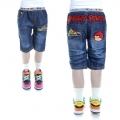 XCW Angry Bird Quarters Denim Pant 愤怒鸟纯棉洗水牛仔压皱中裤 (Design 3)