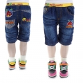 XCW Angry Bird Quarters Denim Pant 愤怒鸟纯棉洗水牛仔压皱中裤 (Design 2)