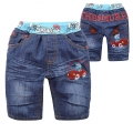 XCW The Smurf Quarters Denim Pant 蓝精灵纯棉牛仔压皱中裤 (Design 1)