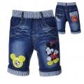 XCW Mickey Mouse Quarters Denim Pant 米奇贴布绣花纯棉洗水牛仔中裤 (Design 4)