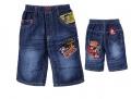 XCW Mickey Mouse Quarters Denim Pant 米奇贴布绣花纯棉洗水牛仔中裤 (Design 5)