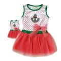 XTB Girl Dots Pink Layers Dress  外贸米白色点点贴布背心洋装裙